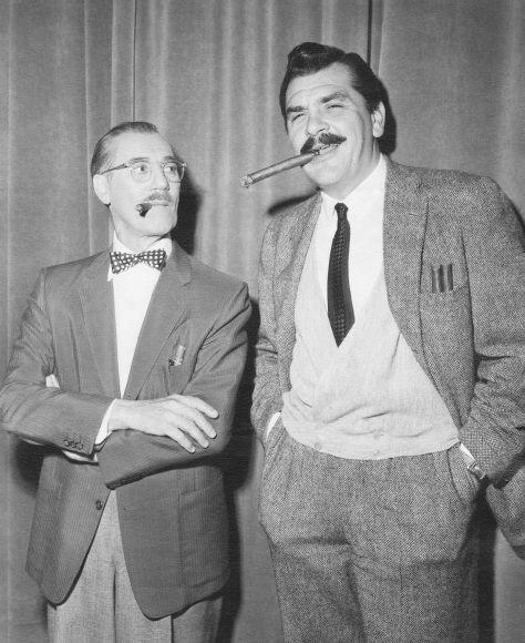 Ernie Kovacs with Groucho Marx