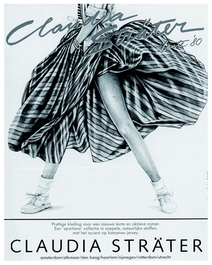 Claudia Strater advertisement from the eighties.