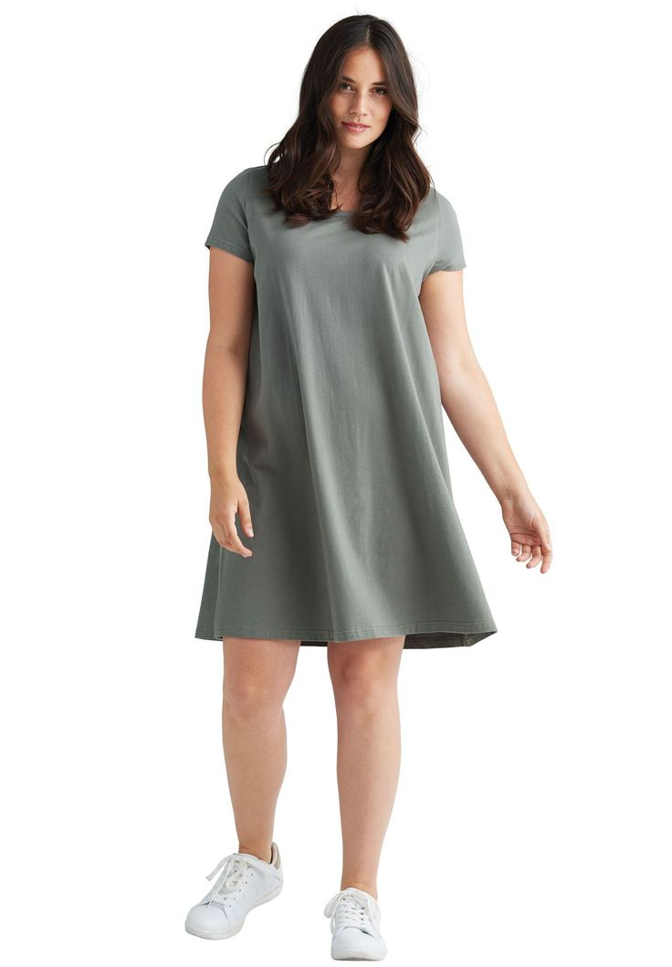 Short Sleeve Tee Dress by Ellos® - Women's Plus Size Clothing