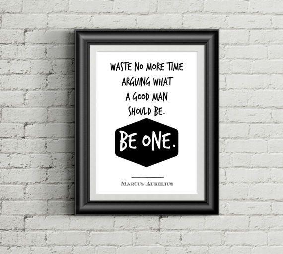 PRINTABLE ART Marcus Aurelius quote: Waste no more time