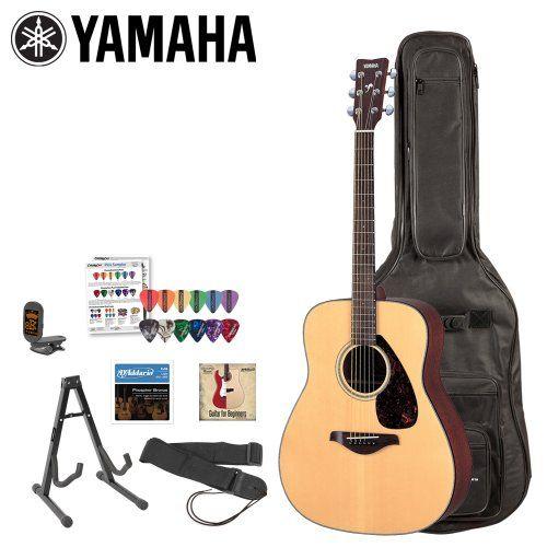 Yamaha JF FG700S KIT 1 FG700S Acoustic Guitar Kit with Gig Bag, Strings, Strap, Stand, Tuner, Instructional DVD and Pick Sampler