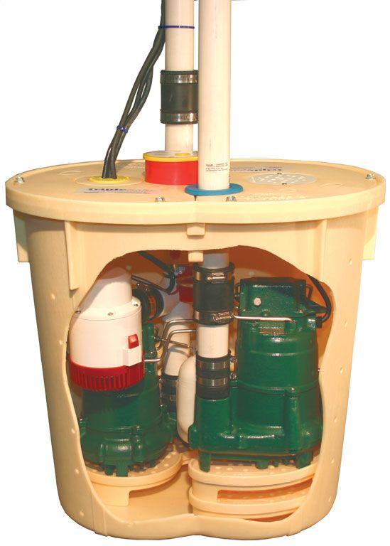 TripleSafe - Notre système de pompe de puisard le plus puissant et fiable, le système de pompe de puisard TripleSafe est le plus avancé au monde! ---- As our most powerful and reliable sump pump system, the TripleSafe Sump Pump System is the most advanced sump pump system in the world!