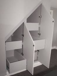 Image result for drawers under stairs