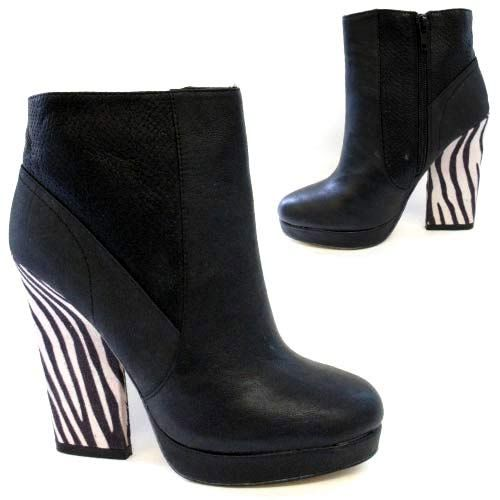 Ladies Biker Boots New Womens Ankle Heels Riding Cowboy Smart Fashion Shoes Size | eBay
