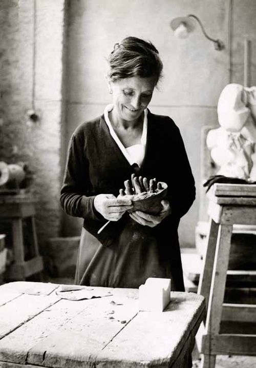 Louise Bourgeois in her studio 1946