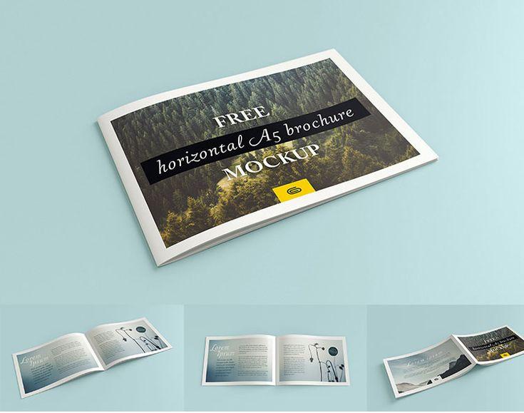 Free square brochure mockups mockups-design Pinterest - gate fold brochure mockup