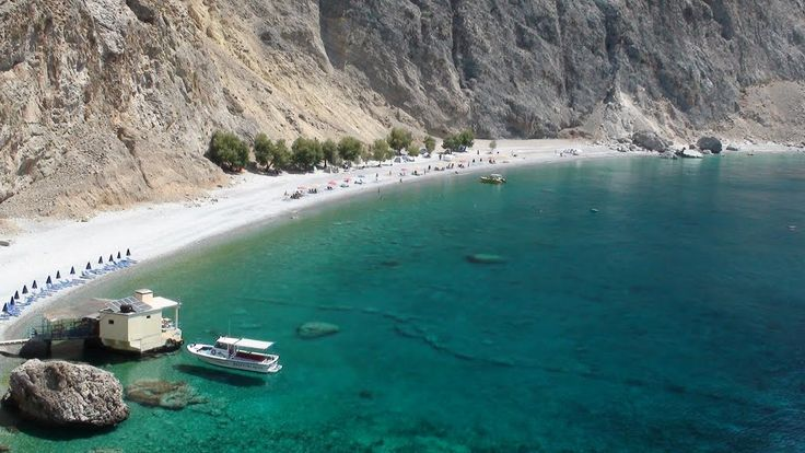 """""""Glika Nera"""" beach in #Sfakia of #Crete is one of the top rated Cretan beaches you don't want to miss!"""