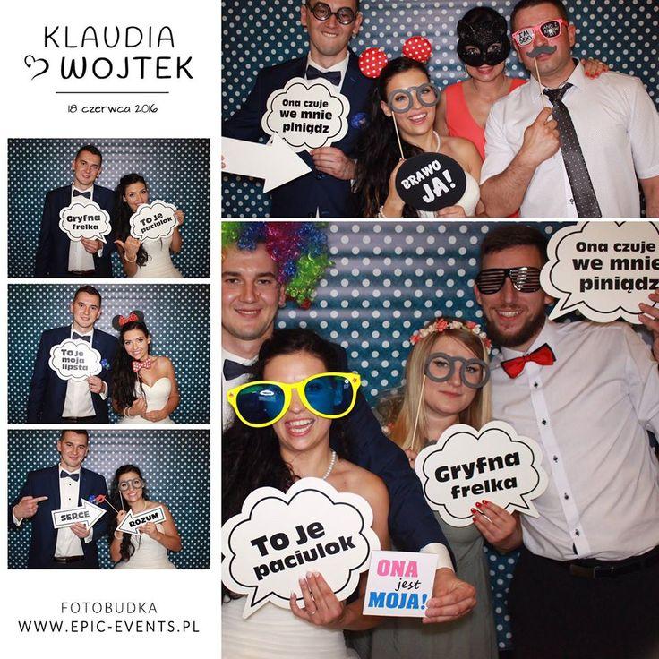 18 czerwca bawiliśmy się na weselu Klaudii i Wojtka :) Młodej parze życzymy wszystkiego najlepszego! www.epic-events.pl #fotobudka #photobooth #smile #fun #zdjęcie #wesele #uostrowskich #atrakcjanawesele