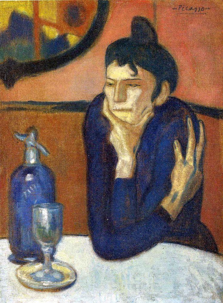 La bevitrice d'assenzio, 1901, olio su tela, Museo dell'Ermitage, San Pietroburgo