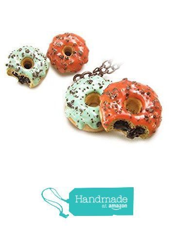 Pastel Donuts Necklace & Silver 925 Donut Earrings ~ Food Jewelry set from HugsKissesMINI http://www.amazon.com/dp/B015Y6IJNY/ref=hnd_sw_r_pi_dp_gMXvwb19DECMJ #handmadeatamazon
