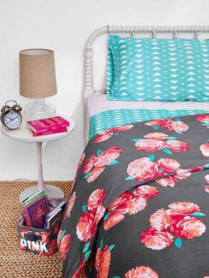 NEW Victoria's Secret Pink Duvet Comforter Cover Bedding Dorm Full Queen