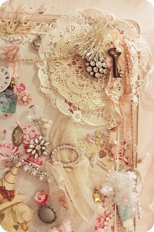 Frilly things girly jewelry vintage lace