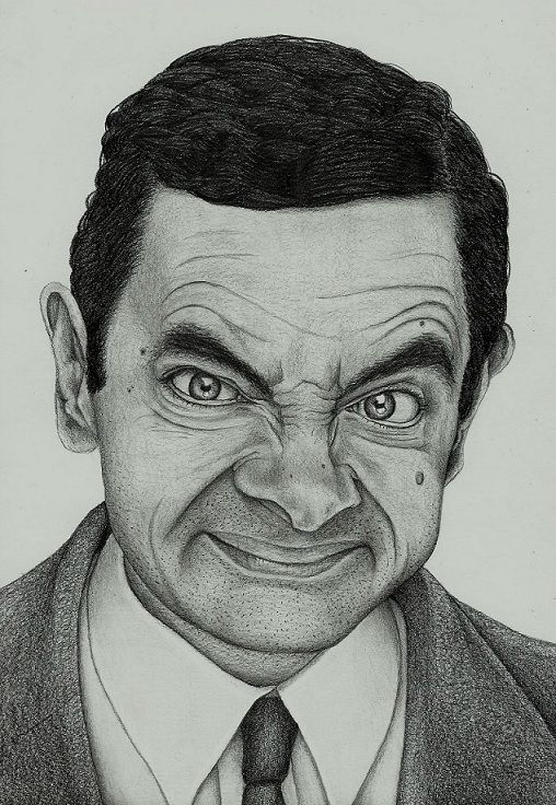 Mr Bean By Pabllo13 Abstract Pencil Drawings Celebrity