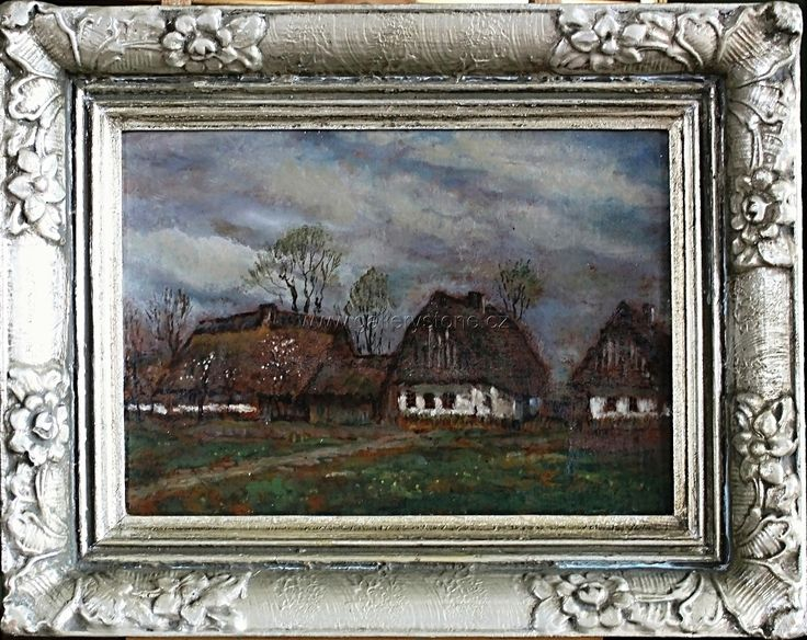 Honsa Jan - ( 1876 - 1937 ) - Za humny -olej,karton - 30x40