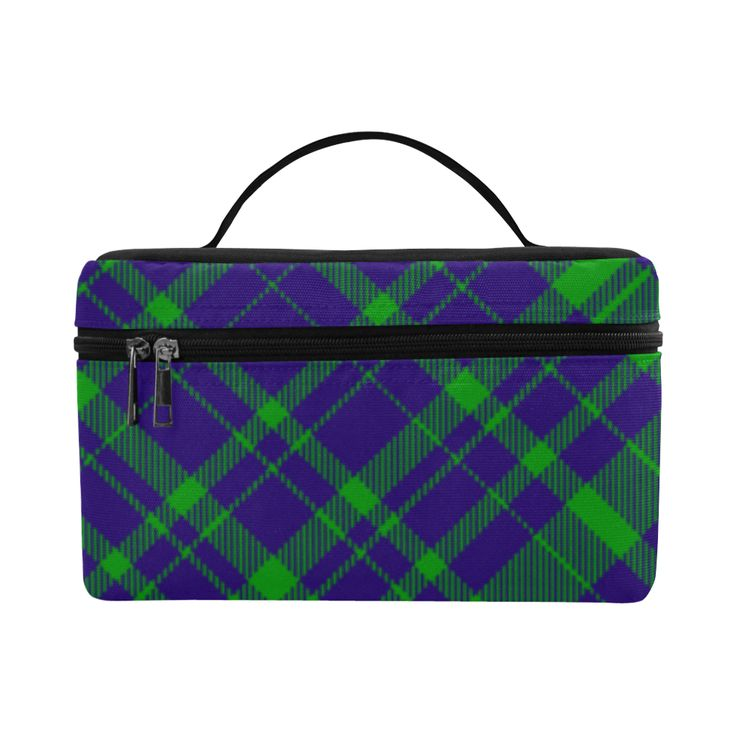 Diagonal Green & Purple Plaid Hipster Style Cosmetic Bag/Large by Scar Design. #toiletrybag #toiletry #cosmeticbag #travelbag #travel #weekendtravelbag #family #onlineshopping #shopping #artsadd #gifts #scardesign #bag #style #fashion #giftsforhim #giftsforher #39 #design #modern  #plaid #plaidpattenrn #trendy #toiletrytravelbag #purple