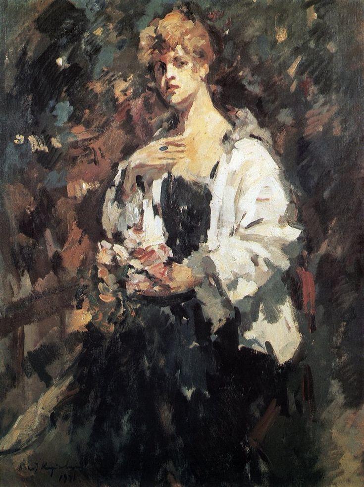 Константин Коровин. Портрет З.Н.Перцевой. 1921