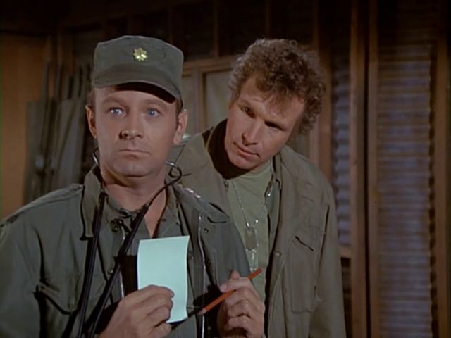 M*A*S*H: Season 1, Episode 20 The Army-Navy Game (25 Feb. 1973) mash, 4077,