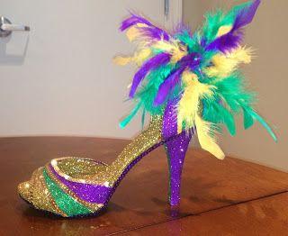 Confessions of a glitter addict - Mardi Gras sandal Muses shoe