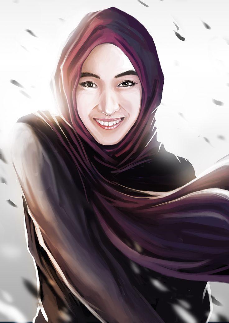 hijab girl illustration-art by gigondgrimlock