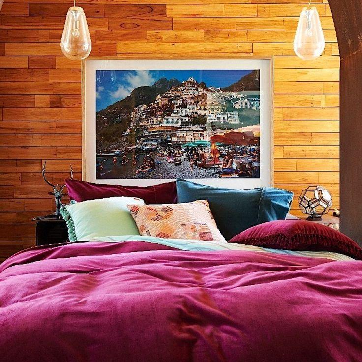 Kip & Co Cherry Velvet QUEEN Quilt Cover  #inside #velvet #luxury #linen #kipandco #bedroom #styling