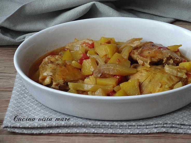 Stufato+di+pollo+allo+zafferano+nella+slow+cooker