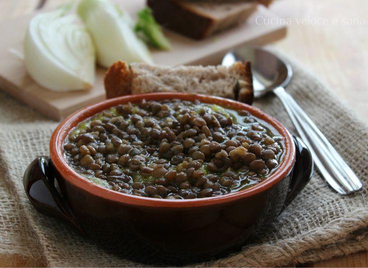 Zuppa di lenticchie, porro e finocchio