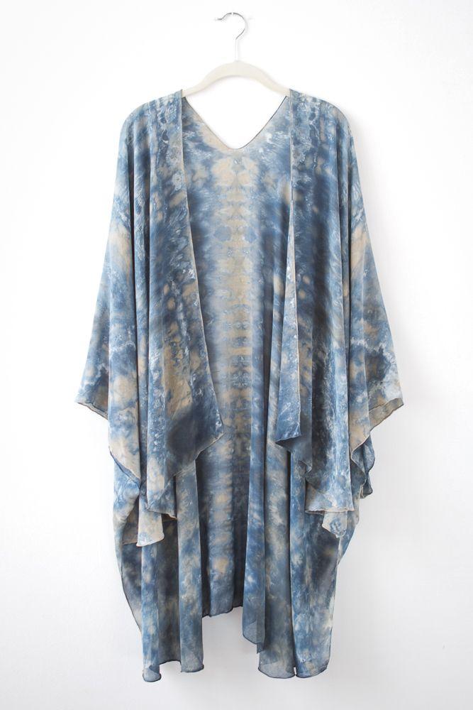 Hand Dyed Silk Kimono/Cape