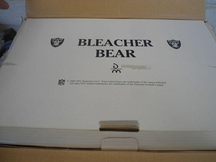 Danbury Mint Oakland Raiders Bleacher Bear Football NFL Detailed Teddy COA NEW #OaklandRaiders #DanburyMint