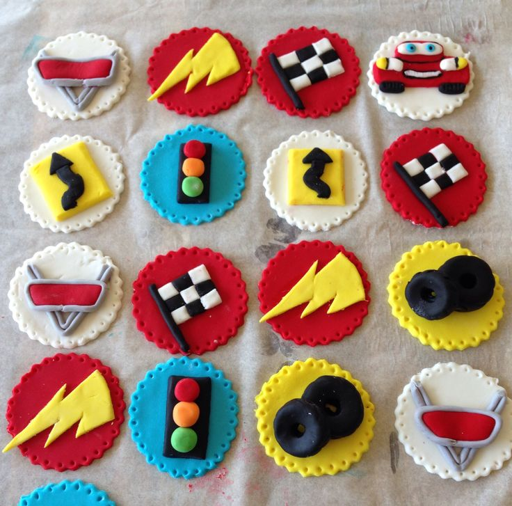 36 best car cupcake toppers images on Pinterest Car cupcakes