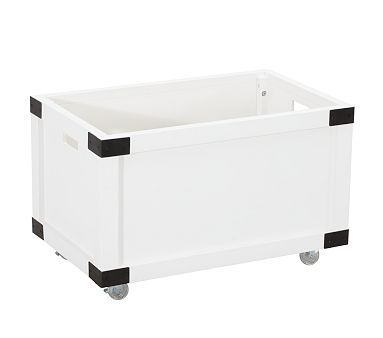 Rustic Toy Box #PotteryBarnKids