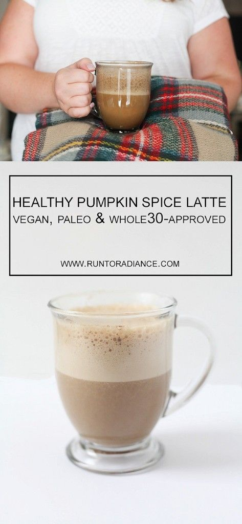 This healthy pumpkin spice latte recipe is dairy free and is so good! Paleo, dairy free, vegan and Whole30-approved!