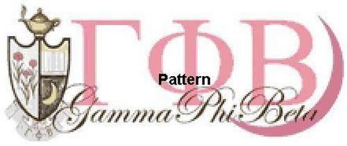 Gamma Phi Beta. Counted Cross Stitch Pattern. Paper version or PDF Files #XPattersAndKits