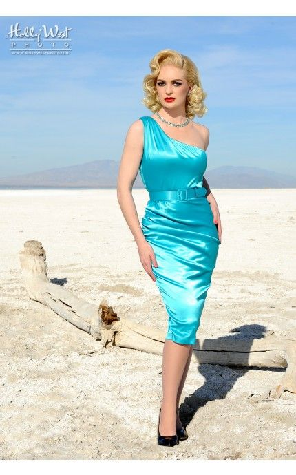 Pinup Couture- Vivien Dress in Bright Blue | Pinup Girl Clothing