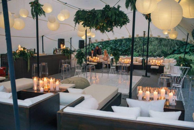 Beautiful wedding set up: furniture by www.villakula.co.nz