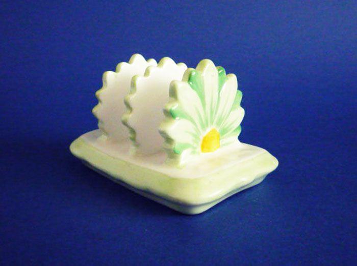Aynsley Bone China Art Deco Floral Toast Rack c1930