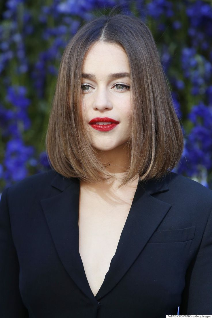 """Emilia Clarke – The """"Contouring Cut""""  Coined byELLE magazine, the """"Contouring …"""