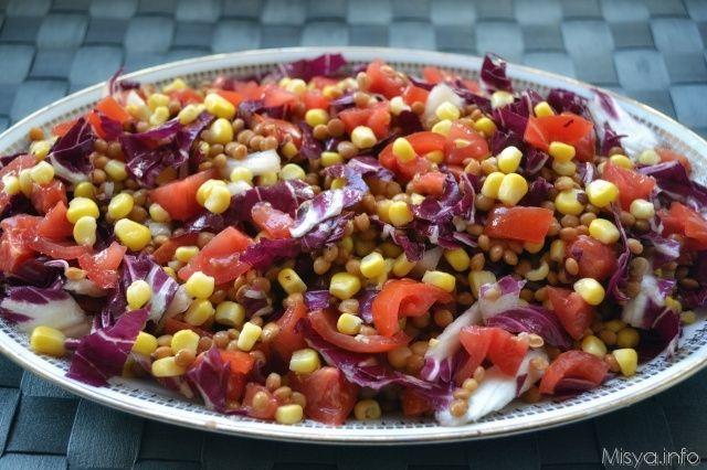 Insalata di lenticchie e radicchio, scopri la ricetta: http://www.misya.info/2014/10/30/insalata-di-lenticchie-e-radicchio.htm