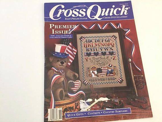 Cross Quick Magazine Cross Stitch Pattern Sampler Pattern