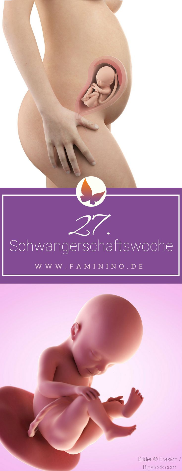 27. SSW (Schwangerschaftswoche): Dein Baby, dein Körper, Beschwerden und mehr