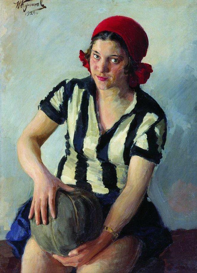 "Иван Куликов ""Спортсменка"" .1929."