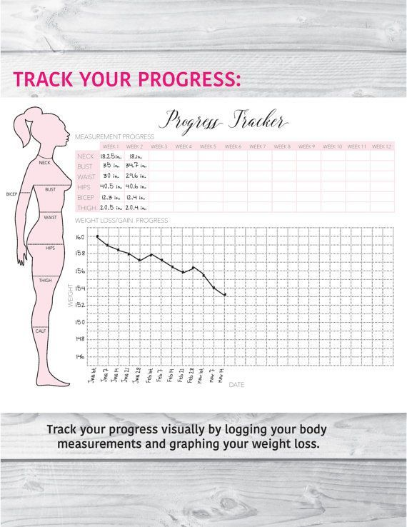 Fitness Planner Fitness Journal Health and Fitness by plannersbyB