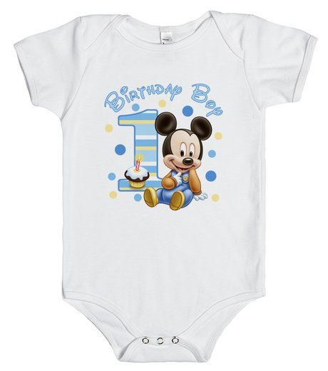 Baby Mickey Mouse 1st Birthday onesie t-shirt. Contact me to add a name! Angela@myhearthasears.com