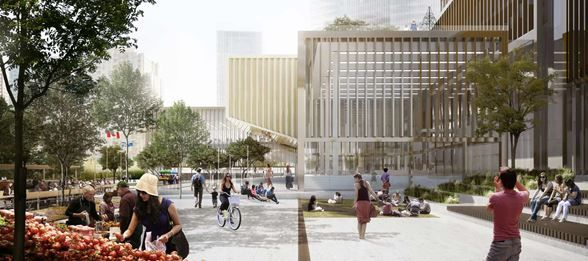Winning project: Etobicoke Civic Centre prolongs the outdoor season :: Henning Larsen Architects