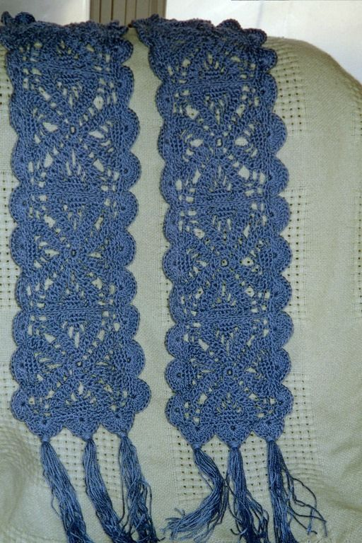 Crochet...An Inspired Lace Scarf - free pattern