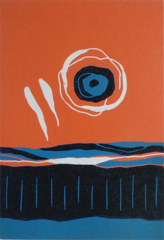Motherwell Sunrise. Original art by Julian Davies