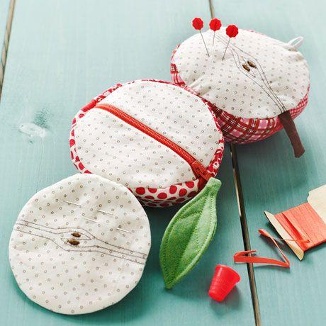 Apples to Oranges Sewing Kit | Straight Stitch Society: Diy Ideas, Sewing Kits, Diy Crafts, Orange Sewing, Stitches Society, Kits Sewing, Apples Sewing, Straight Stitches, Sewing Patterns