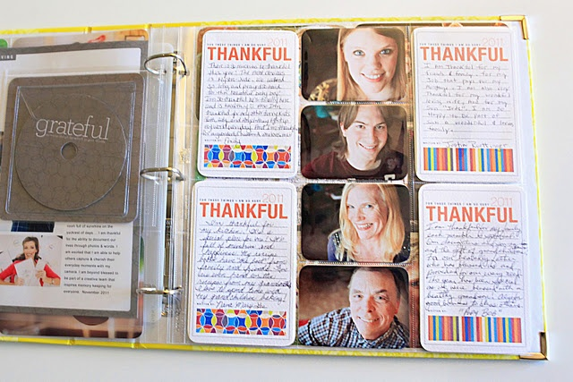 thankful page by Cherish Everyday using journal templates from Cathy Zielske and page protector design D from Becky Higgins