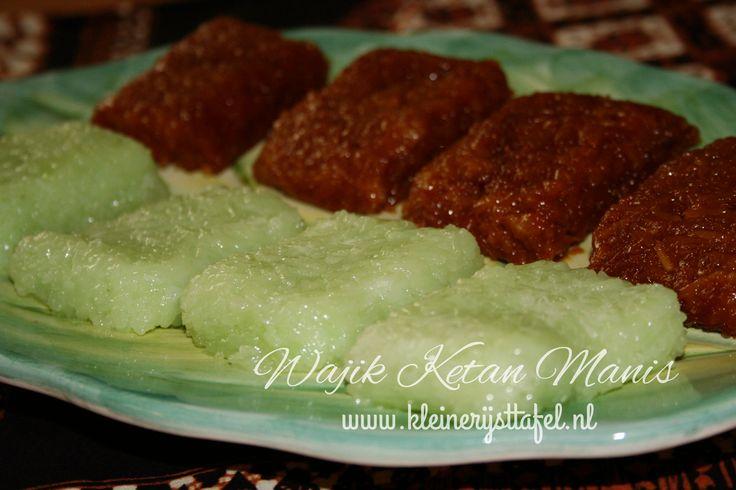 Wadjik is een platte koek van kleefrijst (ketan), kokosmelk en palm suiker.