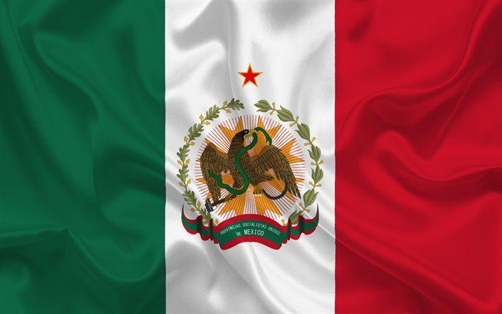 Télécharger fonds d'écran Drapeau mexicain, Mexique, Amérique du Sud, Amérique latine, drapeau du Mexique