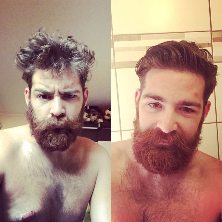 Morning before&after  shower